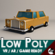 Low-Poly Cartoon Taxi Cab