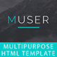 Muser_Multipurpose HTML Template - ThemeForest Item for Sale