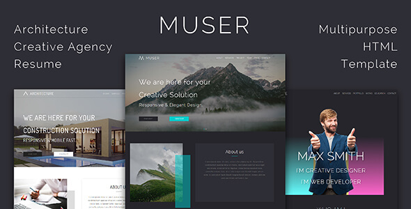 Muser_Multipurpose HTML Template