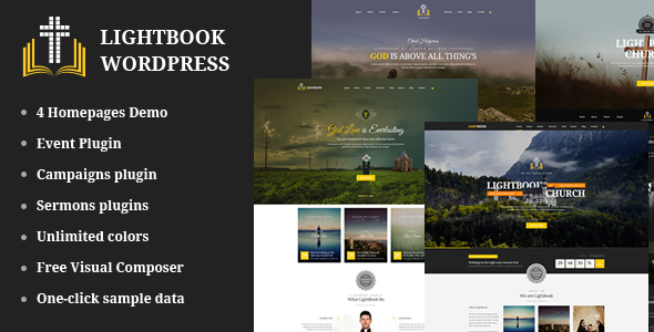 Church Events WordPress Theme - LightBook