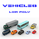 Low-poly sity cars