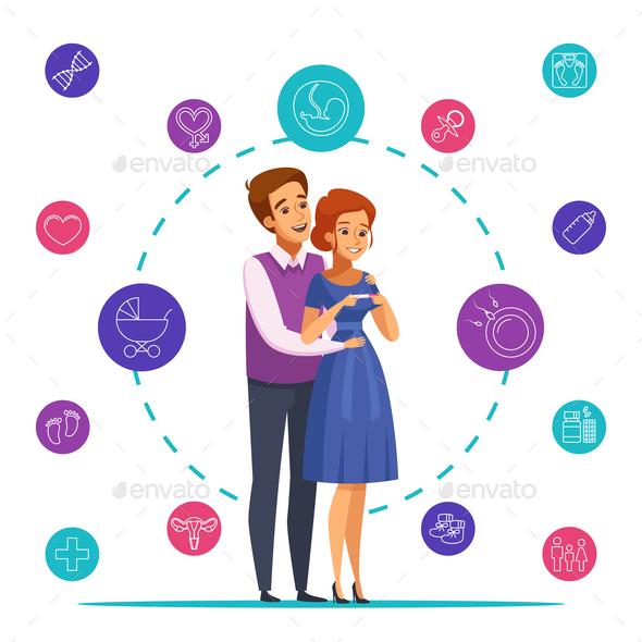 Pregnancy Cartoon Composition