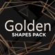 Golden Shapes Pack - GraphicRiver Item for Sale