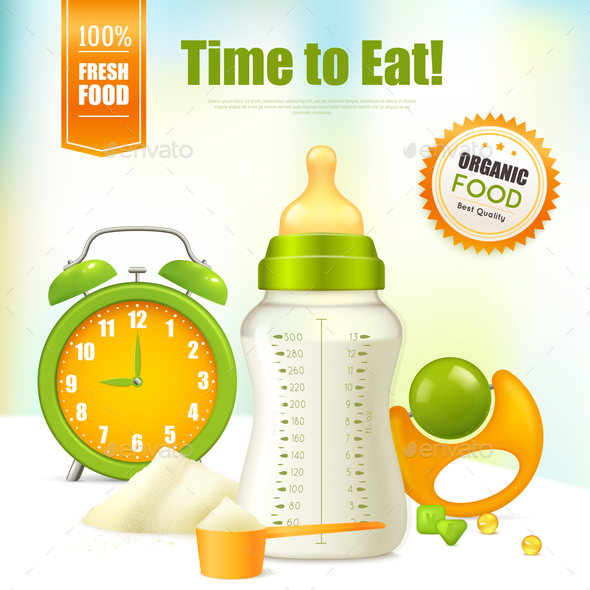 Organic Baby Food Background