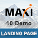 Maxi - Multipurpose Responsive HTML Landing Pages - ThemeForest Item for Sale