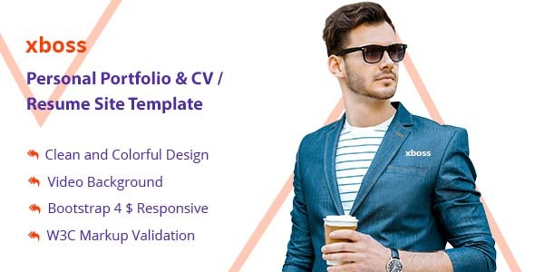 Download xboss Personal Portfolio & CV / Resume Site Template Nulled