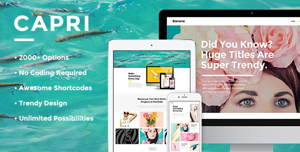 Capri - Creative Portfolio Theme