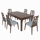 Dining set of classic Italian design consisting of a table and chairs GiuliaCasa Michelangelo - 3DOcean Item for Sale