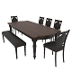 Dining set of classic design consisting of a table and chairs Mebelsky Fiorenca - 3DOcean Item for Sale
