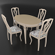 Dining set of classic design consisting of a table Alt-5-12 and chairs Sibarit-7