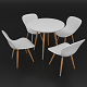 Dining set consisting of a table Towerwood and chairs AC-102W - 3DOcean Item for Sale