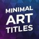 Minimal Art Titles - VideoHive Item for Sale