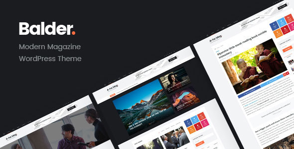 Balder - Modern Magazine WordPress Theme