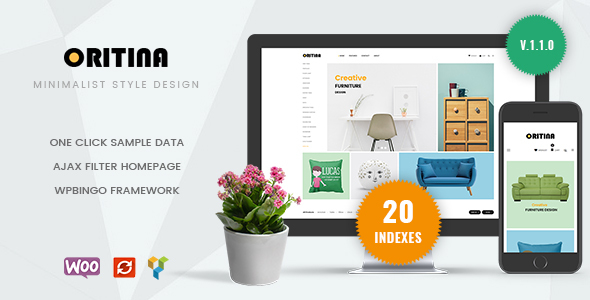 Oritina - Minimal Furniture WooCommerce Theme