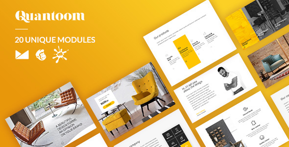 Quantoom Email-Template + Online Builder