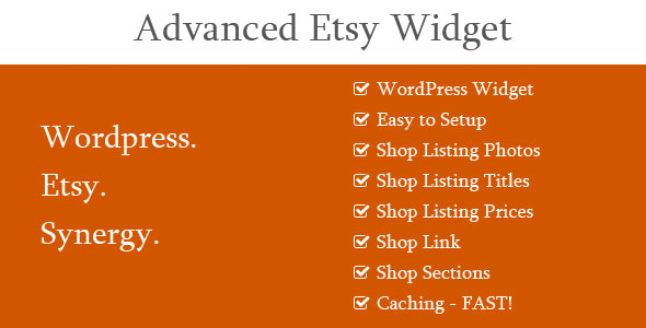 Advanced Etsy Widget