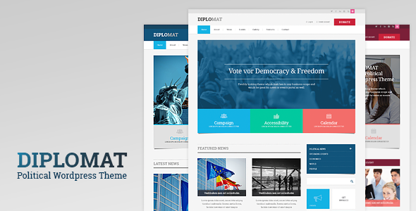 Diplomat | Political Campaign, Party, Blog Responsive WordPress Theme