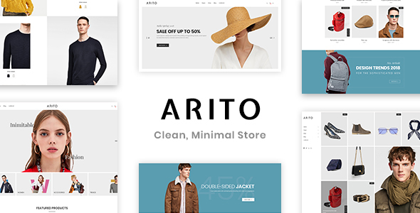 Arito - Clean, Minimal Store PSD Template