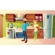 Vector Cartoon Happy Couple in a Modern Kitchen - GraphicRiver Item for Sale