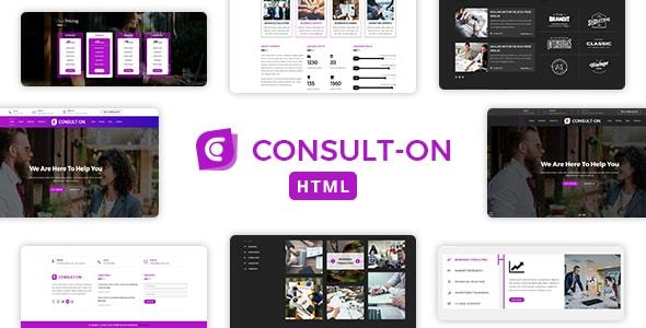 Consulton One Page Business Consulting Corporate Html Template