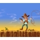 Vector Cartoon American Cowboy with Gun and Lasso - GraphicRiver Item for Sale