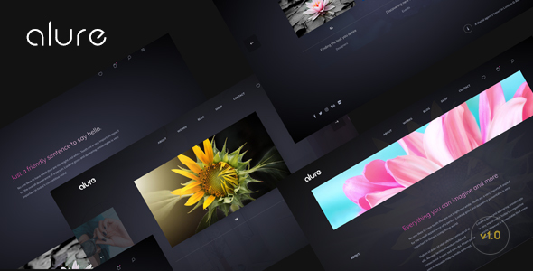 Alure - Creative Multipurpose Portfolio WordPress Theme