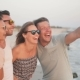 Group of Friends Taking Selfie by Smartphone Enjoying Holiday on the Beach - VideoHive Item for Sale