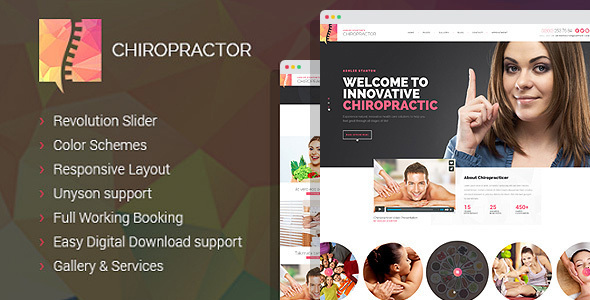 Chiropractor - Therapy and Rehabilitation WordPess Theme