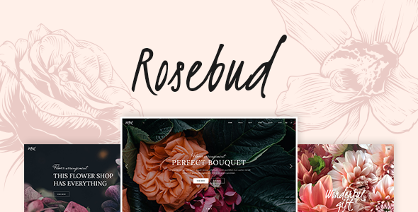 Rosebud - Flower Shop and Florist WordPress Theme