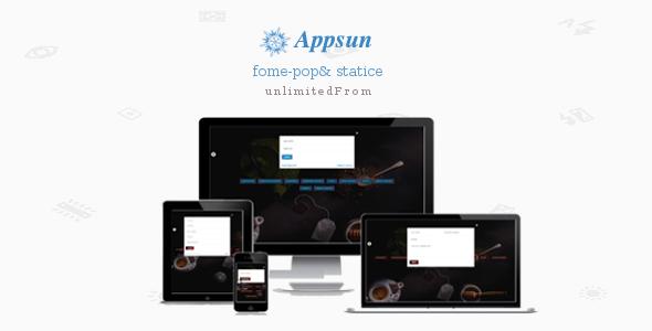 Appsun Form-pop - Responsive Bootstrap Form