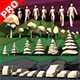 Lowpoly super pack people, trees,cars - 3DOcean Item for Sale