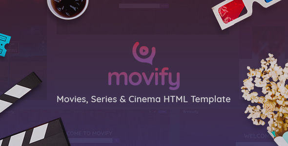 Movify - Movies, TV Shows & Cinema HTML Template
