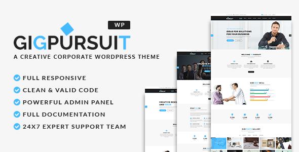 GigPursuit - Business & Corporate WordPress Theme
