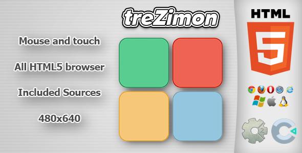 treZimon - HTML5 Memory Game