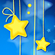 Shining Magic Stars on Dark Blue Background - GraphicRiver Item for Sale