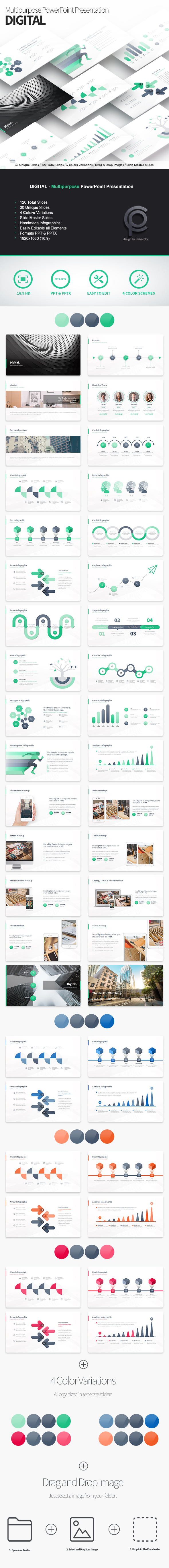 Digital - Multipurpose PowerPoint Presentation