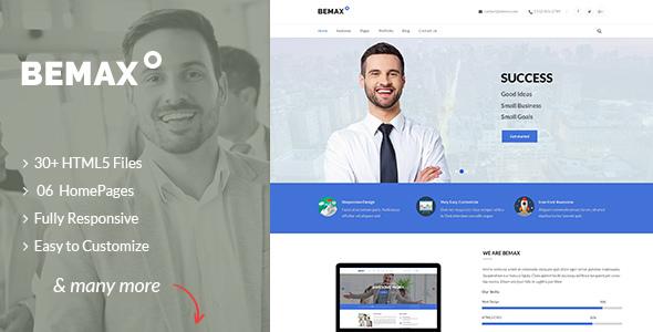 Bemax - Multipurpose Corporate Business HTML5 Template