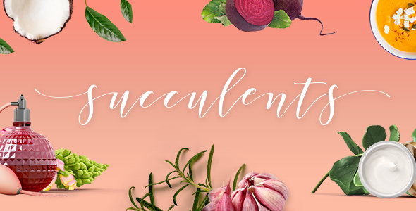 Succulents - Healthy Lifestyle and Wellness Theme