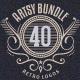 Artsy Vintage Retro Insignia and Logos Bundle - GraphicRiver Item for Sale