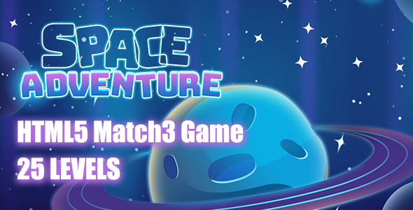 Space Adventures HTML5 Game [ 25 levels ]