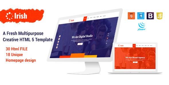Irish - A Fresh Multipurpose Creative HTML5 Template