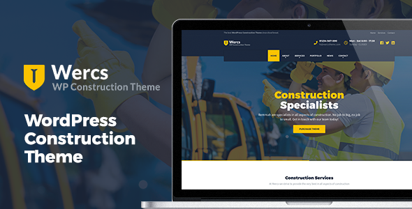 Wercs - WordPress Construction Theme