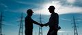 electricity station handshake - PhotoDune Item for Sale
