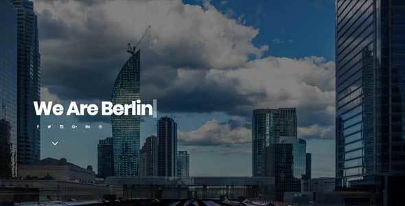 Berlin - Portfolio Responsive Muse Template