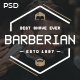 Barberian - Professional Barber Shop & Hair Salons PSD Template - ThemeForest Item for Sale