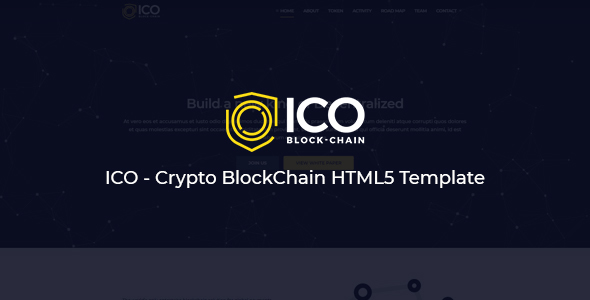 ICO - Crypto BlockChain HTML5 Template