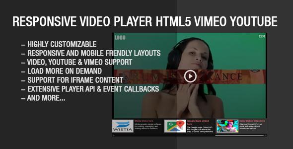 Responsive Video Gallery HTML5 YouTube Vimeo - Feedlinks net
