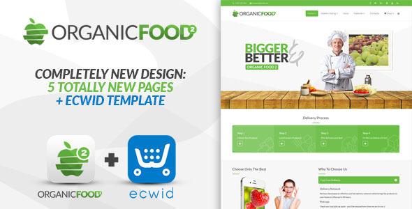 Organic Food - Responsive Joomla Template