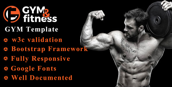 GYM & FITNESS | One Page Responsive HTML5 Gym Template