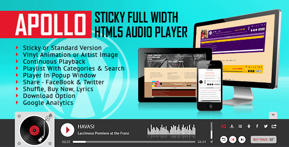 Photo of WordPress Eklenti Apollo – Yapışkan Tam Genişliği, HTML5 Ses Çalar – Full Download